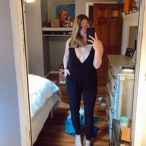 Planet Blue Black Jumpsuit